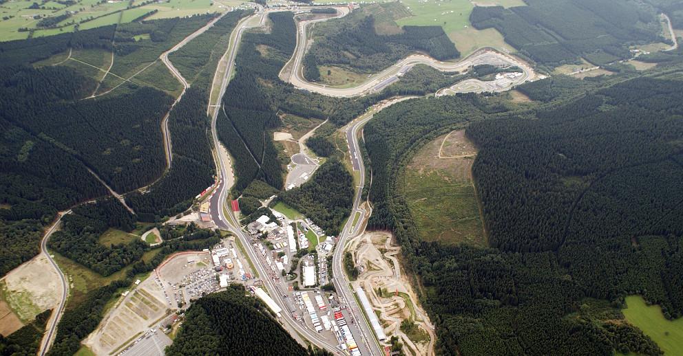 Luftbild Spa Formel 1 Rennstrecke