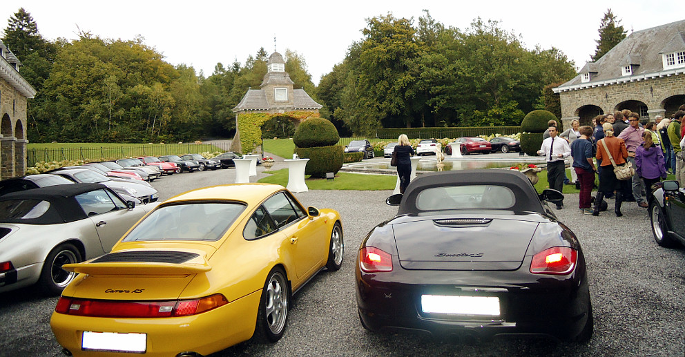 Lébioles Porsche Classics Innenhof